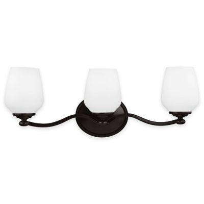 Feiss® Vintner 3-Light Vanity Fixture in Heritage Bronze