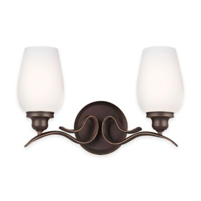 Feiss® Standish 2-Light Vanity Fixture in Oil-Rubbed Bronze with CFL Bulbs