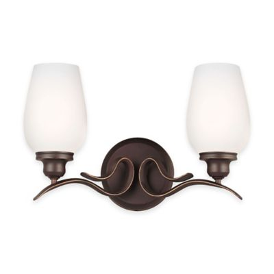 Feiss® Standish 2-Light Vanity Fixture in Oil-Rubbed Bronze with LED Bulbs
