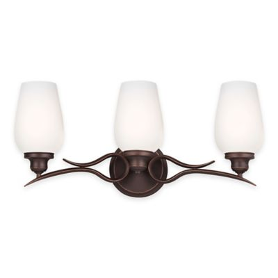 Feiss® Standish 3-Light Vanity Fixture in Oil-Rubbed Bronze with CFL Bulbs