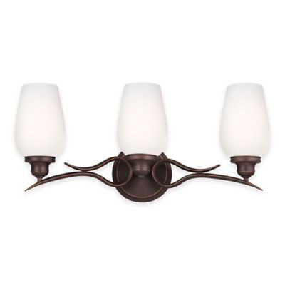 Feiss® Standish 3-Light Vanity Fixture in Oil-Rubbed Bronze with LED Bulbs