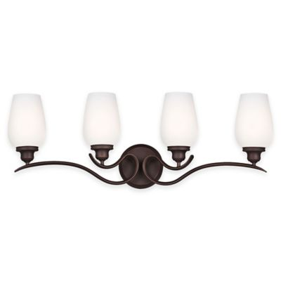 Feiss® Standish 4-Light Vanity Fixture in Oil-Rubbed Bronze with CFL Bulbs