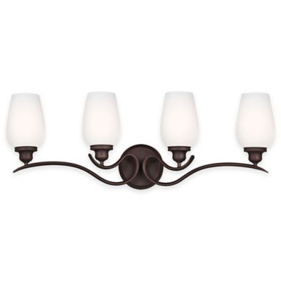 Feiss® Standish 4-Light Vanity Fixture in Oil-Rubbed Bronze with LED Bulbs