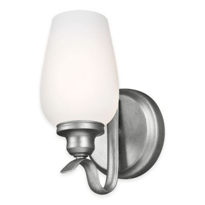 Feiss® Standish 1-Light Wall Sconce in Heritage Silver with LED Bulb