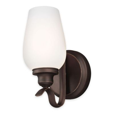 Feiss® Standish 1-Light Wall Sconce in Oil-Rubbed Bronze with CFL Bulb