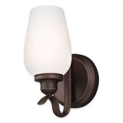 Feiss® Standish 1-Light Wall Sconce in Oil-Rubbed Bronze with LED Bulb