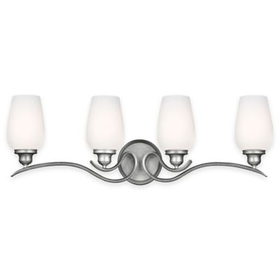 Feiss® Standish 4-Light Vanity Fixture in Heritage Silver