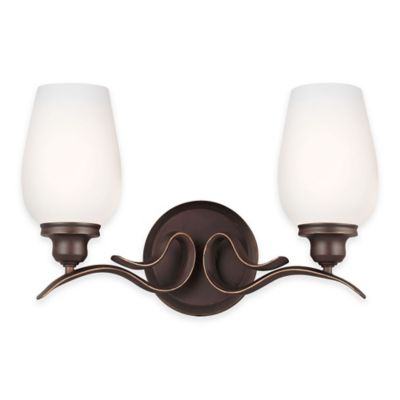 Feiss® Standish 2-Light Vanity Fixture in Oil-Rubbed Bronze
