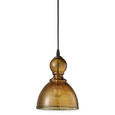 Jamie Young St. Charles Large 1-Light Pendant Lamp in Amber