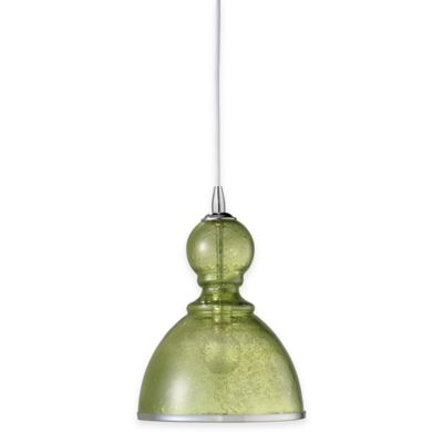Jamie Young St. Charles Large 1-Light Pendant Lamp in Celadon
