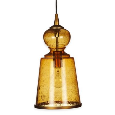 Jamie Young Lafitte 1-Light Pendant Lamp in Amber