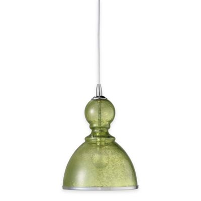 Jamie Young St. Charles Small 1-Light Pendant Lamp in Celadon