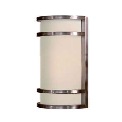 Minka Lavery® Bay View™ 12-Inch 1-Light Wall-Mount Outdoor Sconce in Brushed Steel