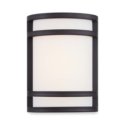 Minka Lavery® Bay View™ 9.5-Inch 1-Light Wall-Mount LED Pocket Lantern in Brushed Steel