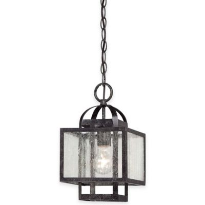 Minka Lavery® Camden Square 1-Light Pendant in Charcoal