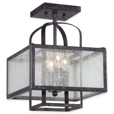 Minka Lavery® Camden Square 4-Light Semi-Flush Ceiling Fixture in Charcoal