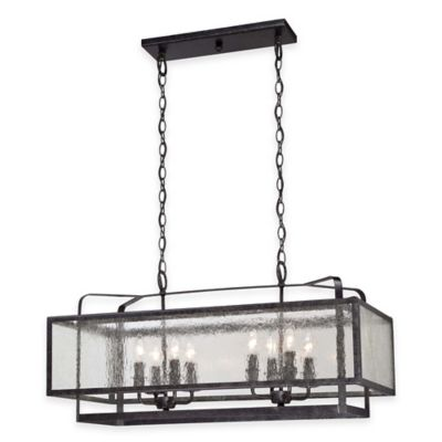 Minka Lavery® Camden Square 8-Light Island Light in Charcoal