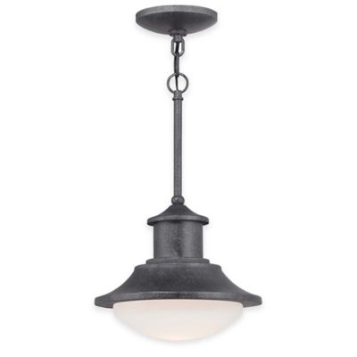 Minka Lavery® Crest Ridge 1-Light LED Outdoor Pendant in Silver