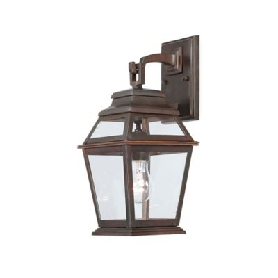 Minka Lavery® Crossroads Point Wall-Mount Outdoor 14.5-Inch Light in Bronze