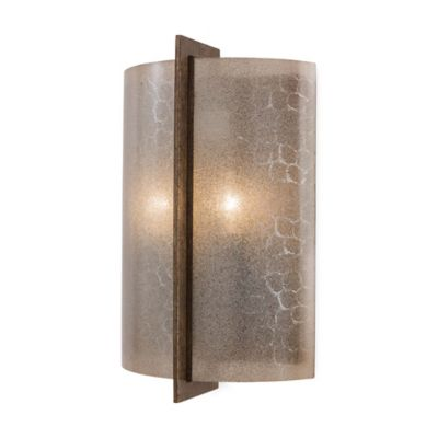 Minka Lavery® Clarté 2-Light Wall Sconce in Patina Iron with Lace Glass Shade