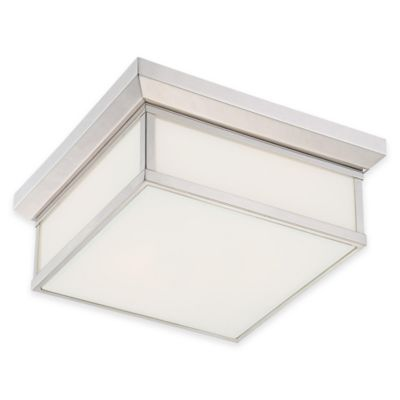 Minka Lavery® Daventry 2-Light Square Bath Ceiling Fixture in Polished Nickel