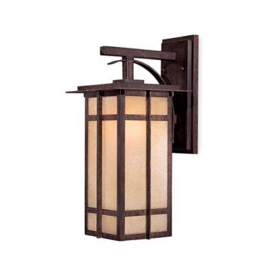 Minka Lavery® Delancy™ 17.5-Inch 1-Light Wall-Mount Outdoor Lantern in Iron