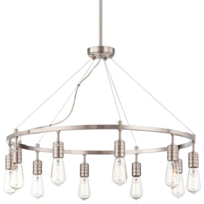 Minka Lavery® Downtown Edison 10-Light Chandelier in Brushed Nickel