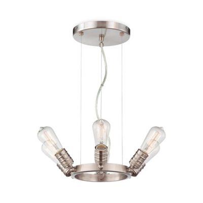 Minka Lavery® Downtown Edison 6-Light Chandelier in Brushed Nickel