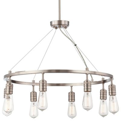 Minka Lavery® Downtown Edison 8-Light Chandelier in Brushed Nickel