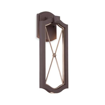 Minka Lavery® Eastborne 17.25-Inch 1-Light Wall-Mount Outdoor LED Sconce in Bronze w/Glass Shade