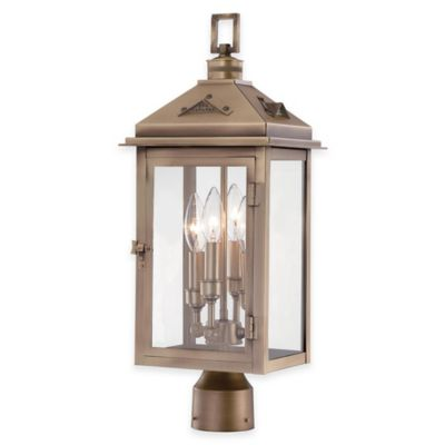 Minka Lavery® Eastbury 4-Light Post-Mount Outdoor Lantern