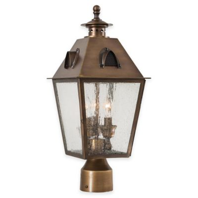 Minka Lavery® Edenshire 3-Light Post-Mount Outdoor Lantern