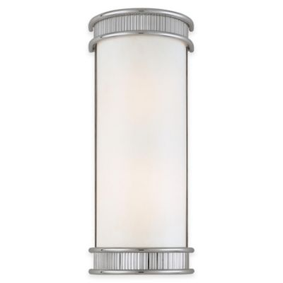 Minka Lavery® Federal Restoration™ 2-Light Wall Sconce in Chrome with Glass Shade