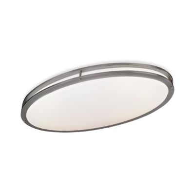 Minka Lavery® 4.75-Inch 2-Light Flush-Mount Ceiling Fixture in Brushed Nickel with Acrylic Shade