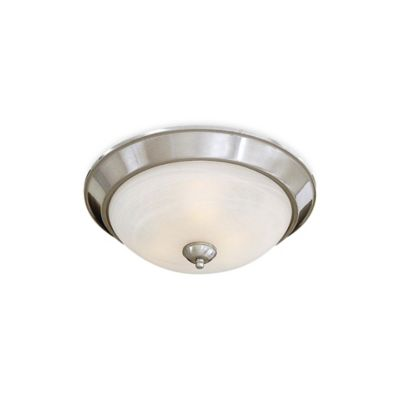 Minka Lavery® 3-Light Flush-Mount Ceiling Fixture in Brushed Nickel with Glass Shade