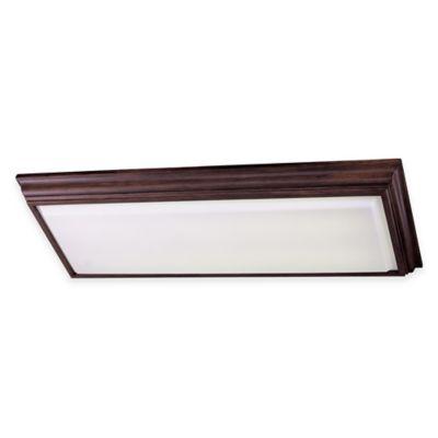 Minka Lavery® 4-Light Flush-Mount Kitchen Fluorescent Ceiling Fixture in Walnut w/Acrylic Shade