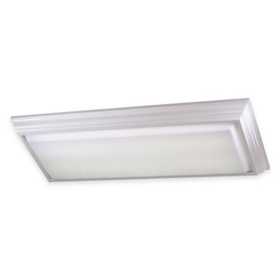 Minka Lavery® 4-Light Flush-Mount Kitchen Fluorescent Ceiling Fixture in White w/Acrylic Shade