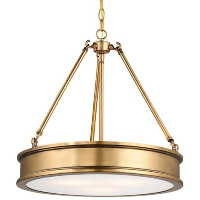 Minka Lavery® Harbour Point 3-Light Pendant in Gold with Etched Glass Shade
