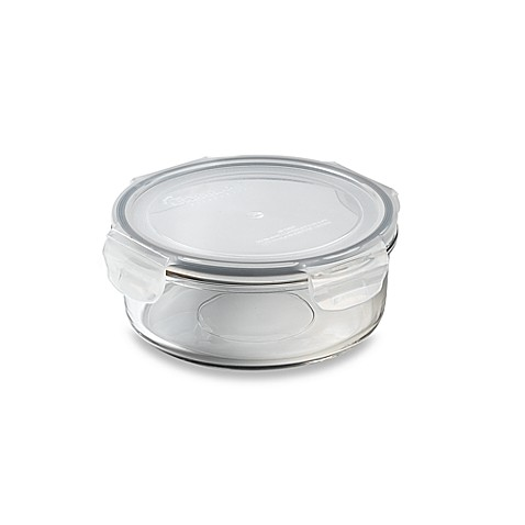 Store N' Lock Round 25.4-Ounce Storage Container
