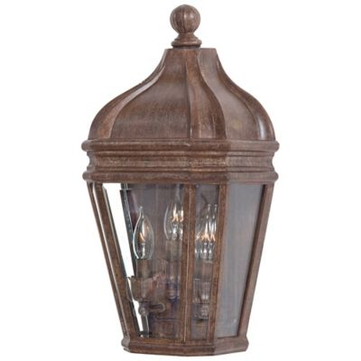 Minka Lavery® Harrison™ 3-Light Wall-Mount Outdoor Pocket Lantern in Rust
