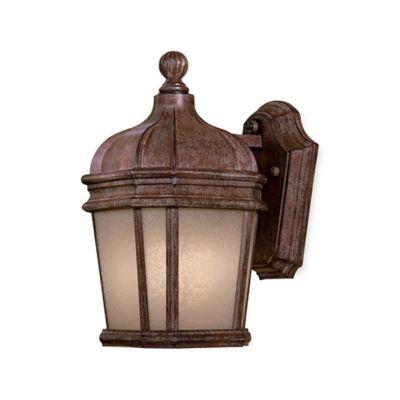 Minka Lavery® Harrison™ 11.5-Inch Wall-Mount Outdoor Lantern in Rust