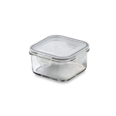Store N' Lock Square 13.5-Ounce Storage Container