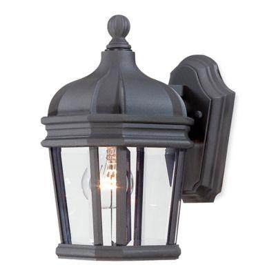 Minka Lavery® Harrison™ 1-Light Wall-Mount Outdoor Light in Black