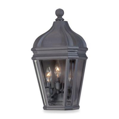 Minka Lavery® Harrison™ 3-Light Wall-Mount Outdoor Pocket Lantern in Black
