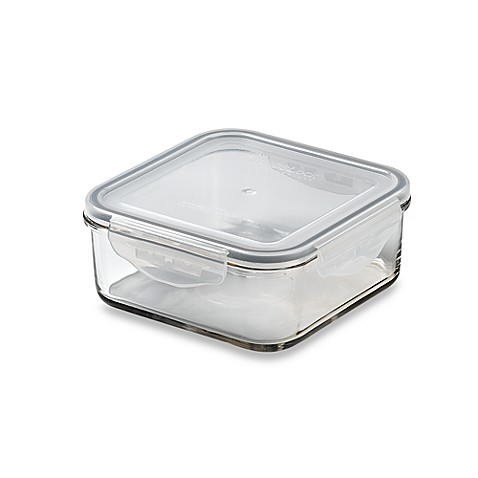 Store N' Lock Square 32.1-Ounce Storage Container