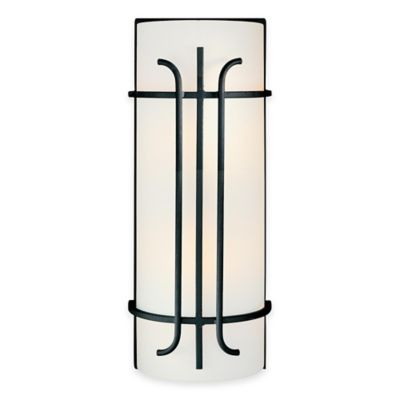 Minka Lavery® Iconic™ 2-Light Wall Sconce in Black with Glass Shade