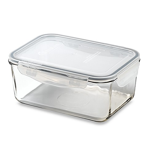 Store N' Foot Lock Rectangular 55.8-Ounce Storage Container