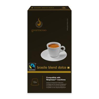 gourmesso 10-Count Brasile Blend Dolce Nespresso® Compatible Espresso Capsules