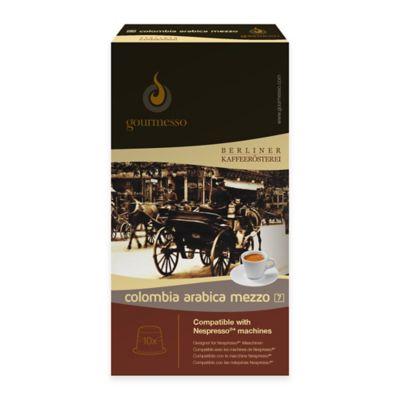 gourmesso 10-Count Colombia Arabica Mezzo Nespresso® Compatible Espresso Capsules