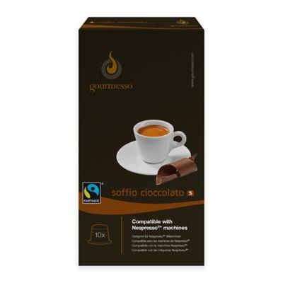 gourmesso 10-Count Chocolate Soffio Cioccolato Nespresso® Compatible Espresso Capsules